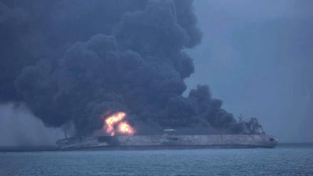 El petrolero iraní se hundió por completo tras una explosión en Mar de China