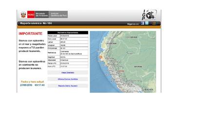 En lo que va del año se reportan cinco sismos en la región Piura