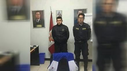 Dos policías fueron capturados con más de un kilo de marihuana en Caraz