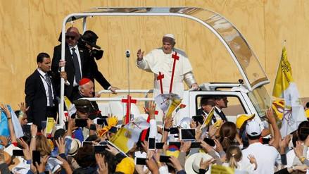 Imágenes de las actividades del papa Francisco en su segundo día en Chile