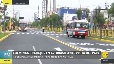 Culminaron las obras en la avenida Brasil ad portas de la llegada del papa Francisco
