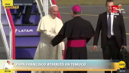 El papa Francisco llegó a Temuco para celebrar una misa indígena