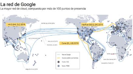 Google construirá cable submarino entre EE.UU. y Chile para mejorar internet en Latinoamérica