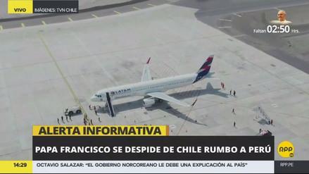El papa Francisco ya viaja hacia el Perú