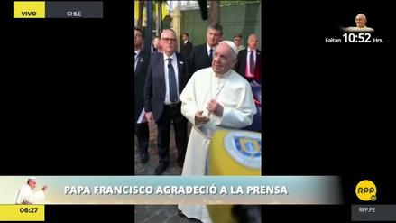 """El papa Francisco a los periodistas: """"Su servicio es generoso, gracias de corazón"""""""