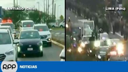 Las diferencias entre la llegada del papa Francisco a Santiago y a Lima