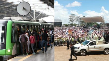 Metro de Lima: ¿Cuánto le costarán al Estado los viajes gratuitos a la misa del Papa?