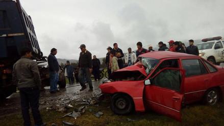 Jauja: un muerto dejó triple choque en la Carretera Central