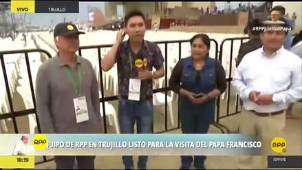 Gran despliegue de RPP Noticias por la llegada del Papa a Trujillo