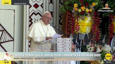 """El papa Francisco en Puerto Maldonado: """"Esta no es tierra huérfana, es la tierra de la Madre"""""""