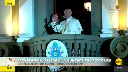 """Papa Francisco a vecinos de Manchay: """"Gracias por venir, esos gestos no los olvido"""""""