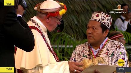 Esta es la ofrenda simbólica que recibió el Papa de parte de los pueblos indígenas