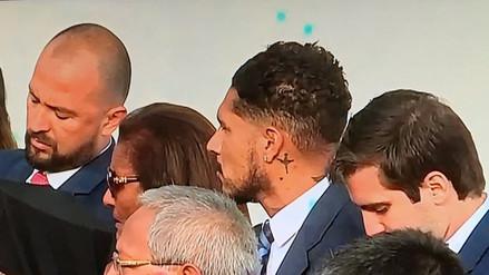 Paolo Guerrero acudió al discurso del Papa Francisco en Palacio de Gobierno
