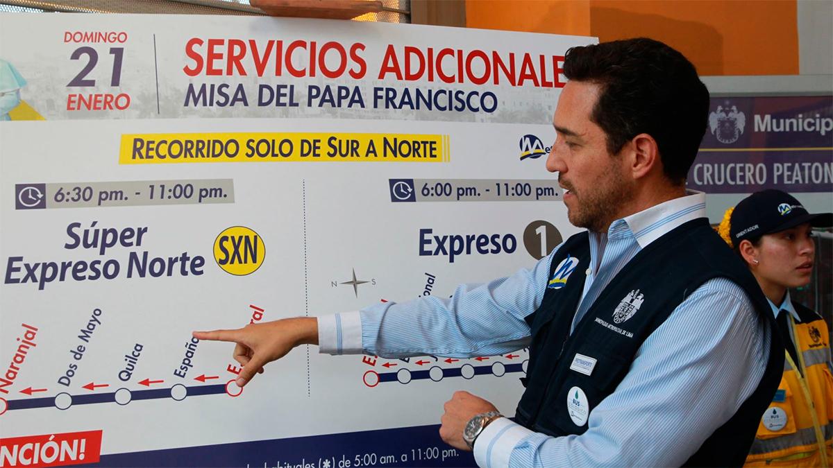 Estas son las rutas de los buses que llevarán a la misa del papa Francisco en Lima