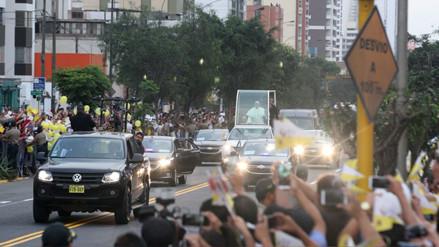Las calles que se cerrarán en el último día del papa Francisco en Lima
