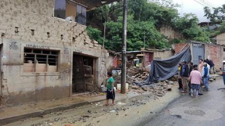 La Convención: tres familias damnificadas por colapso de vivienda por lluvias