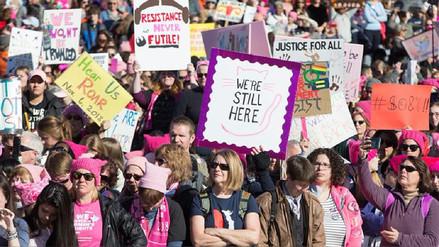 Las 'Marchas de las Mujeres' toman las principales ciudades de Estados Unidos