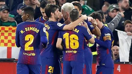 Barcelona humilló por 5-0 al Real Betis en el Benito Villamarín