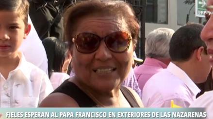 Madre de Paolo Guerrero esperó al papa Francisco en iglesia Las Nazarenas
