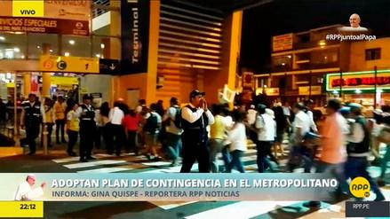 Estaciones del Metropolitano colapsaron tras misa del papa Francisco