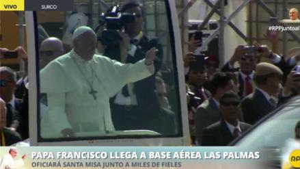 El Papa llega a Las Palmas para dar su misa de cierre