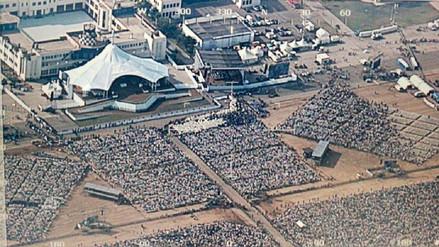 Las tomas aéreas y panorámicas de la multitudinaria misa del papa Francisco en Lima