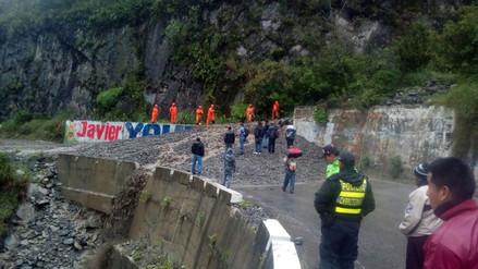 Tarma: caída de huaico bloqueó pase a la Selva Central