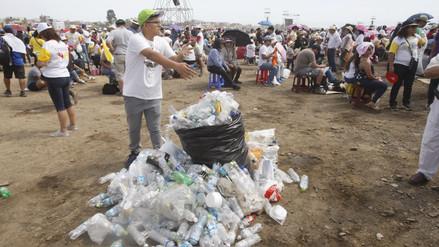 Recogen 113 toneladas de basura tras visita del papa Francisco
