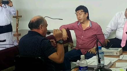 Chiclayo: Roberto Torres se exaltó durante careo con su exfuncionario