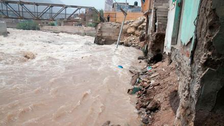 Indeci: erosión afectó las bases de casas en Chosica tras aumento del río Rímac