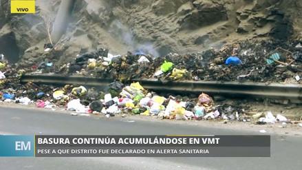 Vecinos de Villa María del Triunfo queman la basura acumulada en las calles