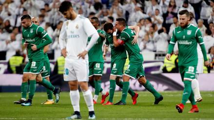 Real Madrid cayó frente al Leganés y le dice adiós a la Copa del Rey