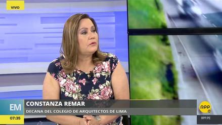 """El Colegio de Arquitectos advierte que en Lima """"no se ha hecho nada"""" en prevención de desastres"""