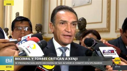 """Becerril a Kenji Fujimori: """"No conozco ningún tema de gran política que haya esgrimido"""""""