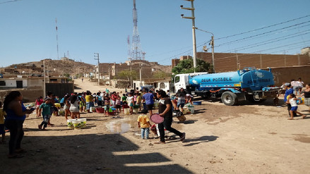 Sunass verifica desabastecimiento de agua en la zona Oeste de Chiclayo