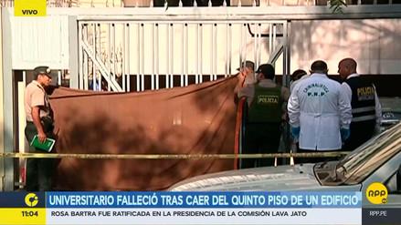 Un joven murió tras caer del quinto piso de un edificio en Surco