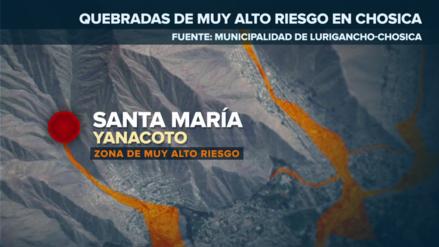 Vecinos de Chosica piden protección en las quebradas ante peligro por lluvias