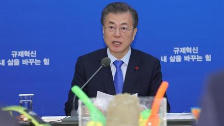 La popularidad de Moon Jae-in cayó por los acuerdos con Corea del Norte
