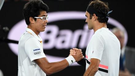Federer repite en la final del Abierto de Australia tras la retirada de Chung