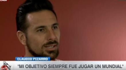 """Claudio Pizarro: """"Mi objetivo siempre fue jugar un Mundial"""""""