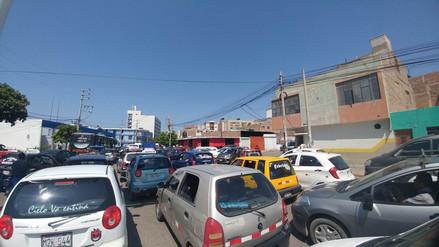Continúa caos vehicular en Chiclayo por obras de rehabilitación