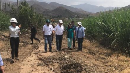 Inspeccionan inicio de trabajos de limpieza y descolmatación en río Moche