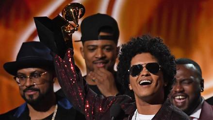 Grammy: Bruno Mars arrasó con la noche de premios