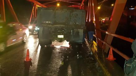 Huancayo: un hombre falleció atropellado en el puente Breña