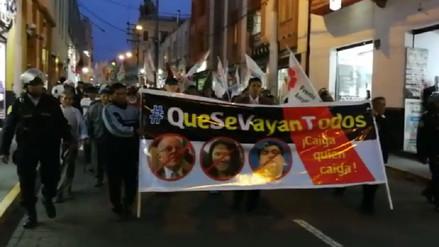 Nueva marcha contra el indulto a Alberto Fujimori se cumplió en Arequipa
