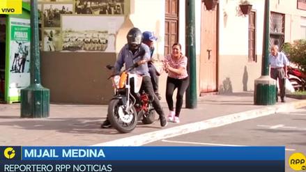 Alcalde de Surco pide que se prohíba que dos personas viajen a bordo de una motocicleta