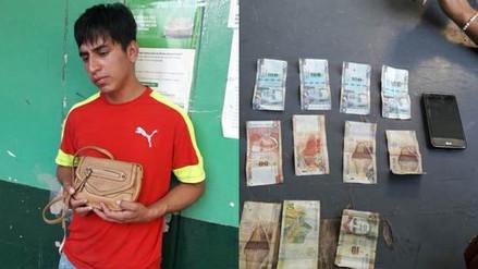 Chiclayo: Radio Patrulla capturó a joven arrebatador de carteras