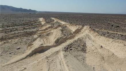 Un camión dañó tres geoglifos en la pampa de Nasca