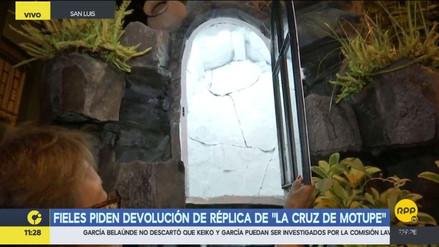 Robaron una réplica de la Cruz de Motupe en San Luis