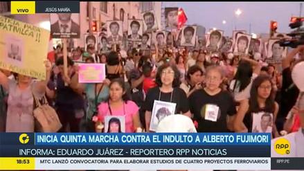 Diversos colectivos participaron de la quinta marcha contra el indulto a Alberto Fujimori